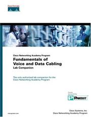 Cover of: Cisco Networking Academy Program Fundamentals of Voice and Data Cabling Lab Companion | Cisco Systems Inc.
