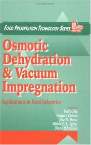 Cover of: Osmotic Dehydration and Vacuum Impregnation |