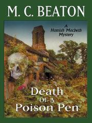 Cover of: Death of a Poison Pen: A Hamish MacBeth Mystery (Mystery Masters Series)