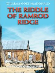 Cover of: The riddle of Ramrod Ridge