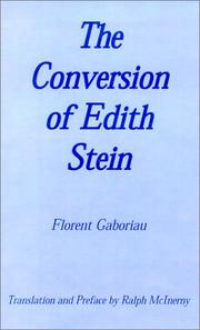 Cover of: The Conversion of Edith Stein