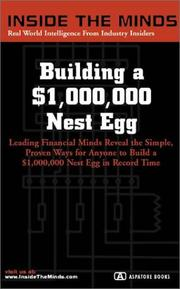 Cover of: Building a $1,000,000 Nest Egg | Inside the Minds