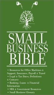 Cover of: Small Business Bible | Aspatore Books