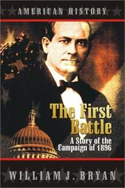 Cover of: The first battle