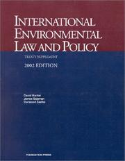 Cover of: International Environmental Law and Policy by David Hunter