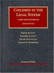 Cover of: Children in the Legal System | Elizabeth S. Scott