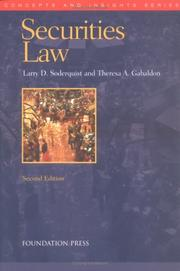 Cover of: Securities law