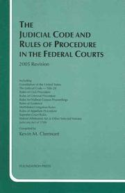 Cover of: The Judicial Code and Rules of Procedure in the Federal Courts, 2005