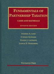 Cover of: Fundamentals of Partnership Taxation Cases and Materials | Stephen A. Lind