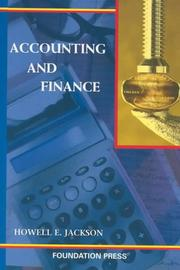 Cover of: Accounting and Finance