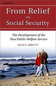 Cover of: From relief to social security