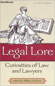 Cover of: Legal Lore | William Andrews