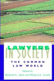Cover of: Lawyers in Society