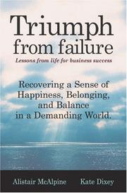 Cover of: Triumph from Failure | Robert Alistair McAlpine