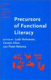 Cover of: Precursors of functional literacy