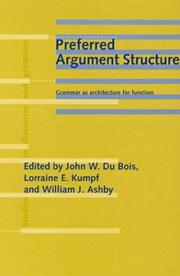 Cover of: Preferred argument structure