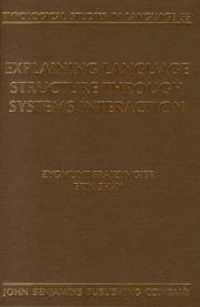 Cover of: Explaining language structure through systems interaction