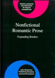 Cover of: Nonfictional romantic prose