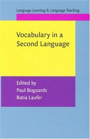 Cover of: Vocabulary in a second language