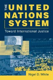 Cover of: The United Nations System | Nigel D. White