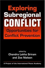 Cover of: Exploring Subregional Conflict |