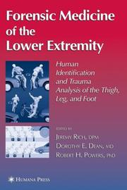 Cover of: Forensic Medicine of the Lower Extremity (Forensic Science and Medicine) |