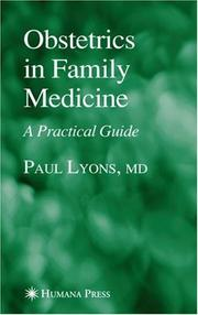 Cover of: Obstetrics in family practice | Lyons, Paul