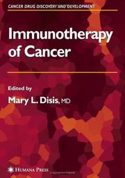 Cover of: Immunotherapy of cancer |