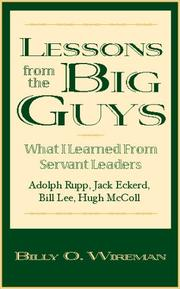 Cover of: Lessons from the Big Guys | Billy O. Wireman
