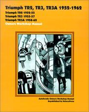 Cover of: Triumph Tr2, Tr3, Tr3a 1952-62 Owners Workshop Manual (Autobooks) | Veloce Press