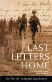 Cover of: Last Letters Home | Tamasin Day-Lewis