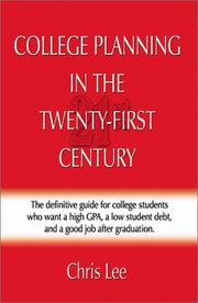Cover of: College Planning in the Twenty-First Century