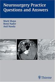 Cover of: Neurosurgery Practice Questions And Answers | Mark Shaya