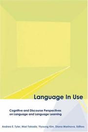 Cover of: Language in Use (Georgetown University Round Table on Languages and Linguistics (Proceedings)) |
