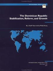 Cover of: The Dominican Republic: stabilization, reform, and growth