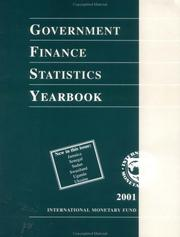 Cover of: Government Finance Statistics Yearbook | International Monetary Fund.