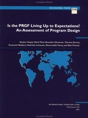 Cover of: Is the PRGF Living Up to Expectations? An Assessment of Program Design | Benedict Clements