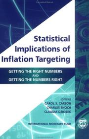 Cover of: Statistical Implications of Inflation Targeting |