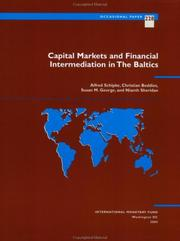 Cover of: Capital Markets and Financial Intermediation in the Baltics | Alfred Schipke