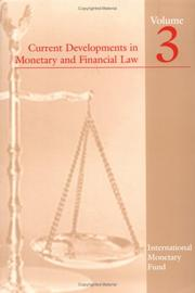 Cover of: Current Developments in Monetary And Financial Law