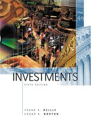 Cover of: Investments | Frank K. Reilly