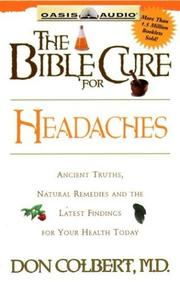 Cover of: The Bible Cure for Headaches (Bible Cure