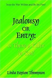 Cover of: Jealousy Or Envy | Linda Thompson