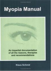 Cover of: Myopia Manual
