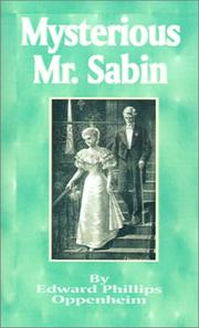 Cover of: Mysterious Mr. Sabin