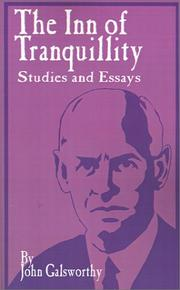 Cover of: The inn of tranquility: Studies and Essays