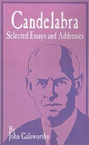 Cover of: Candelabra: selected essays and addresses