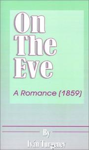 Cover of: On the Eve | Ivan Sergeevich Turgenev