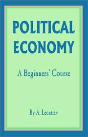 Political economy by A. Leontiev