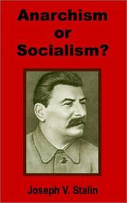Cover of: Anarchism or Socialism